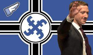 Mark Zuckerberg of Facbook waving reminds of history's worst dictator
