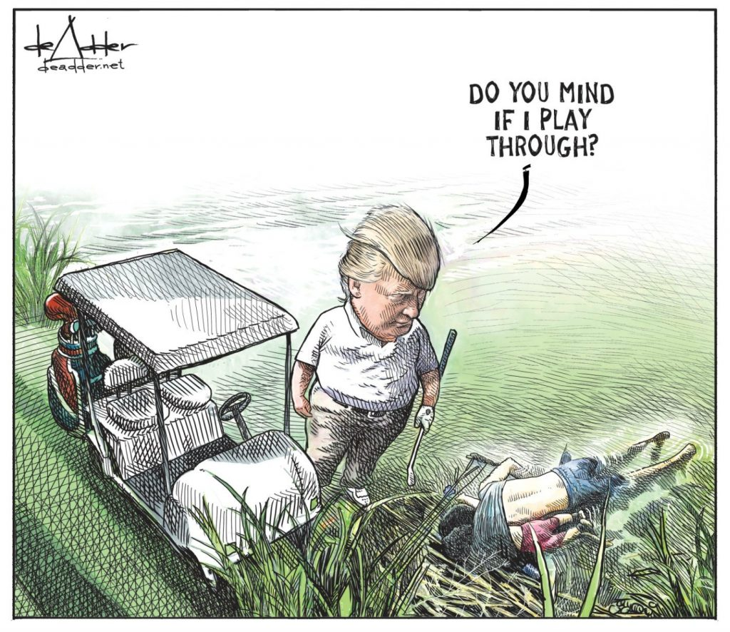 The viral image that got Michael de Adder to lose his job
